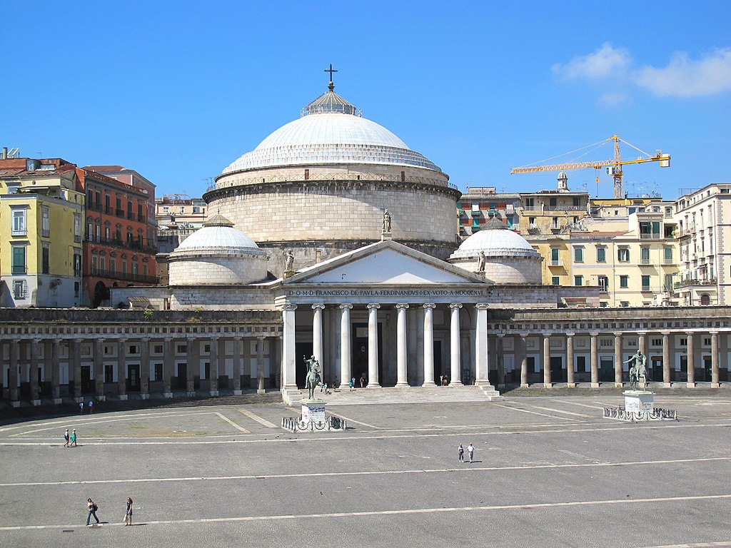 Eglise S.Francesco di Paola sur la Piazza Plebiscito dans le quartier San Ferdinando à Naples - Photo de Pietro Scerrato