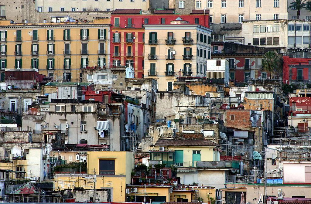 Vue sur les toits des Quartiers Espagnols de Naples - Photo © José Luiz Bernardes Ribeiro / CC BY-SA 4.0