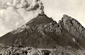 Vésuve, volcan près de Naples à l'origine du désastre de Pompéi