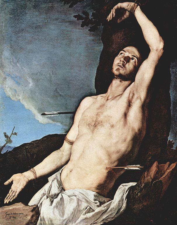 """Saint Sebastien"", toile de Jusepe de Ribera à la Chartreuse San Martino à Naples"