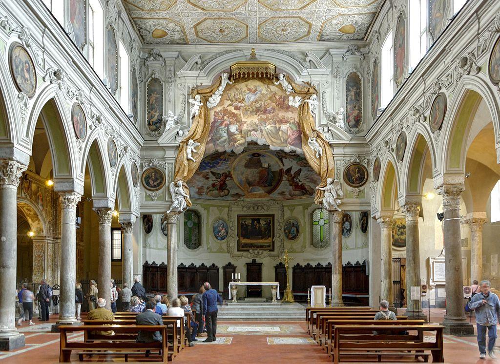 Dans la Cathédrale de Naples, la chapelle di Santa Restituta accolé au Duomo. Photo de Berthold Werner.