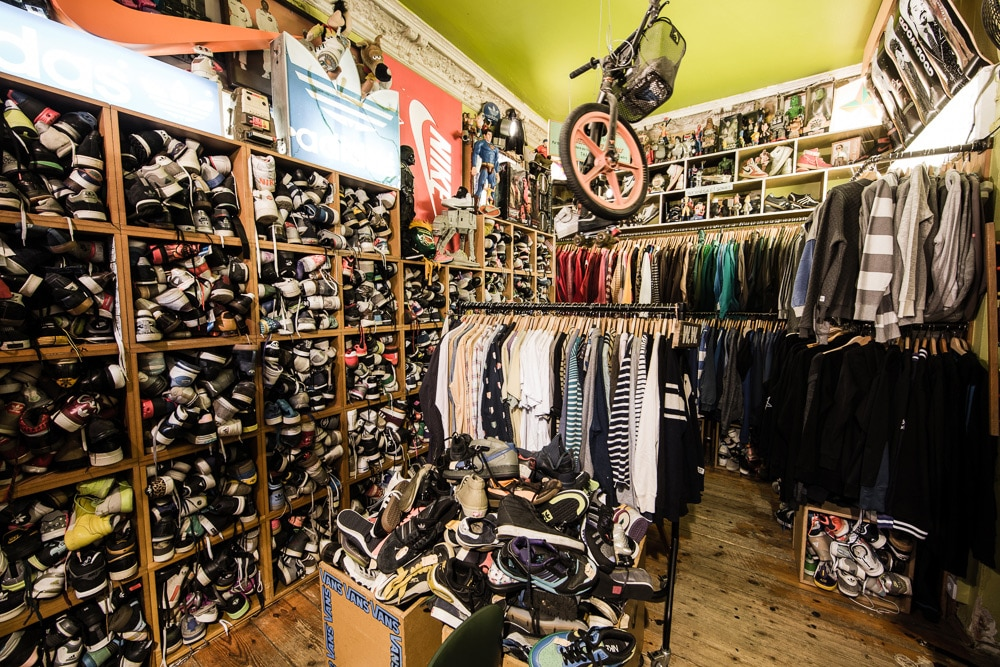 Paul's Boutique à Berlin, friperie et basket [Prenzlauer berg]
