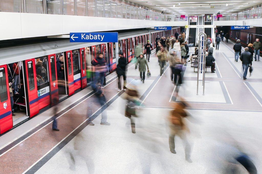 Pratique à Varsovie : Vue sur le métro.