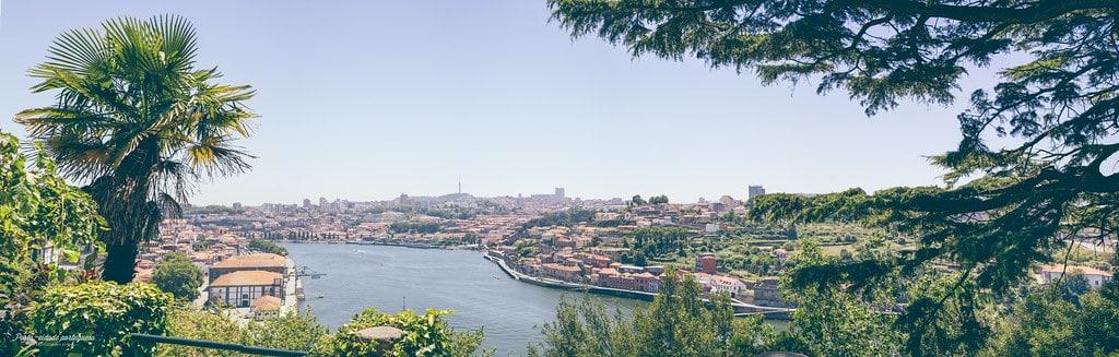 Jardins do Palácio de Cristal à Porto : Belle vue sur le Douro