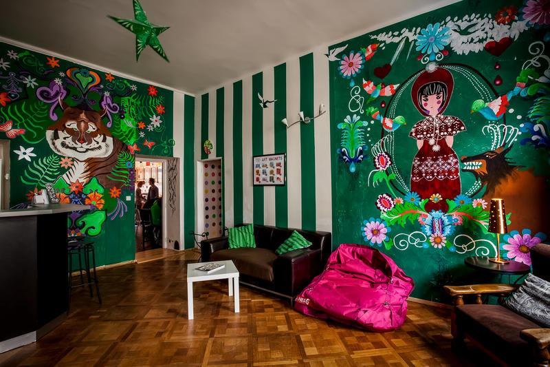 Art Hole Hostel, auberge de jeunesse à Prague.
