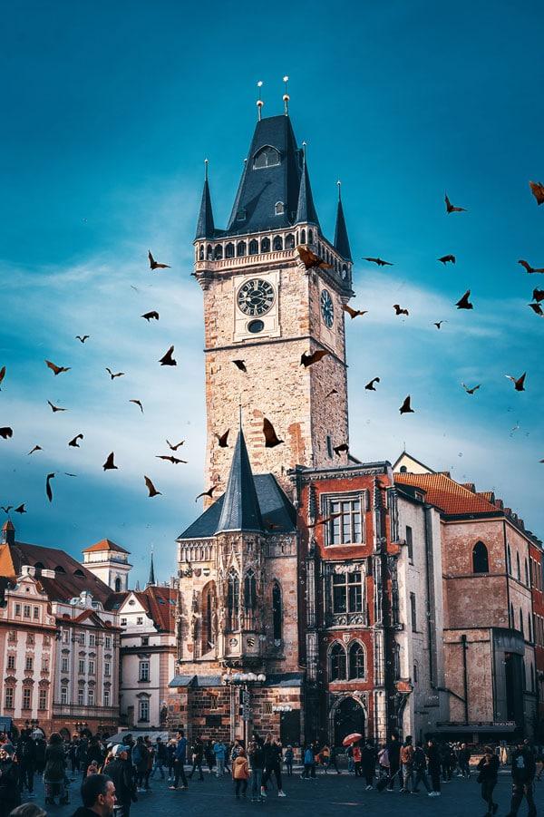Hotel de Ville de Prague dans le centre historique - Photo de John Jacobson