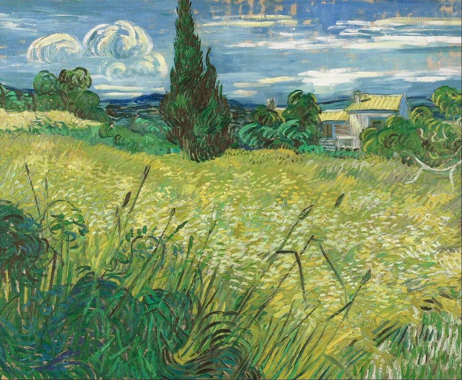 Tableau de van Gogh dans le Musée d'Art Moderne de Prague (Veletržní palác) dans le quartier de Holesovice.