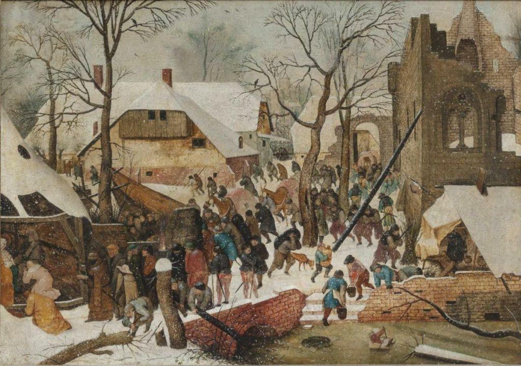 Tableau de Brueghel dans le musée des Anciens Maîtres du palais Sternberg à Prague (quartier Hradcany).