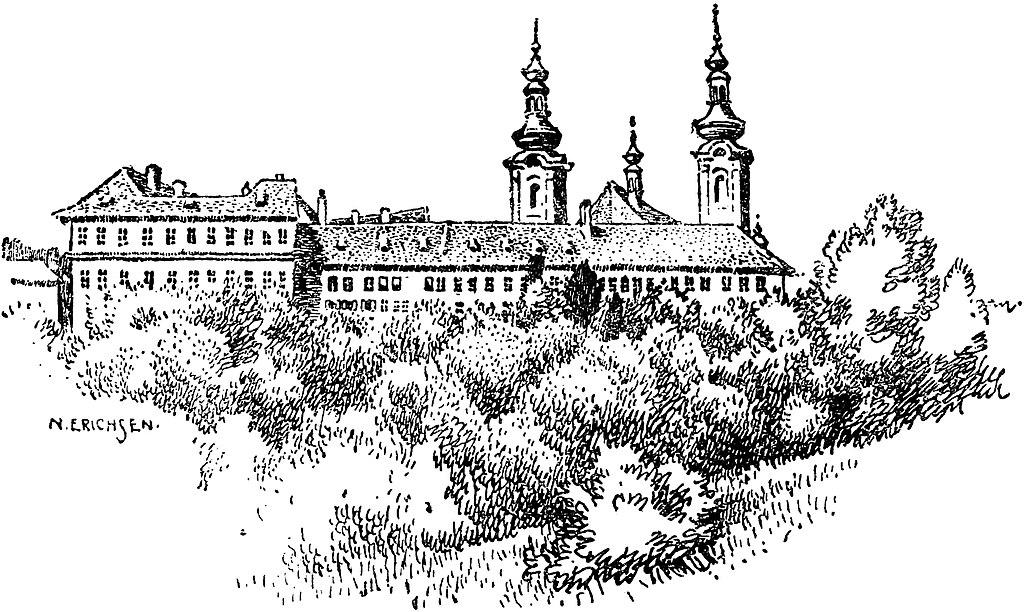 Illustration du monastère de Strahov à Prague.