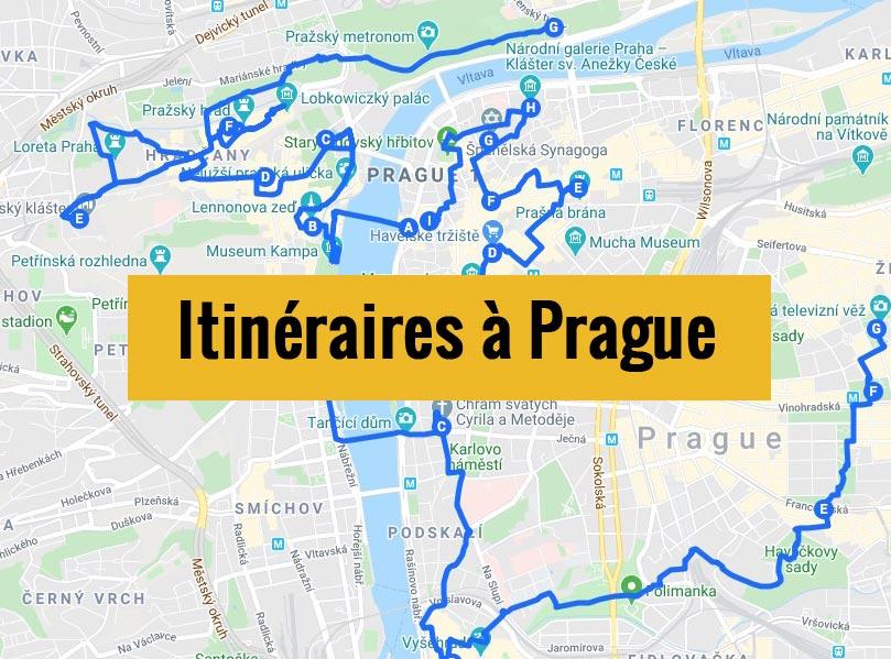 Itinéraires détaillés pour visiter Prague (République Tchèque) en 2, 3 jours ou plus.