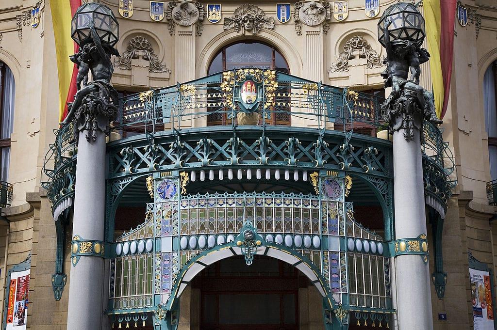 Façade de la Maison de la Municipalité à la limite de la Nouvelle Ville et du centre historique de Prague - Photo de Jorge Royan