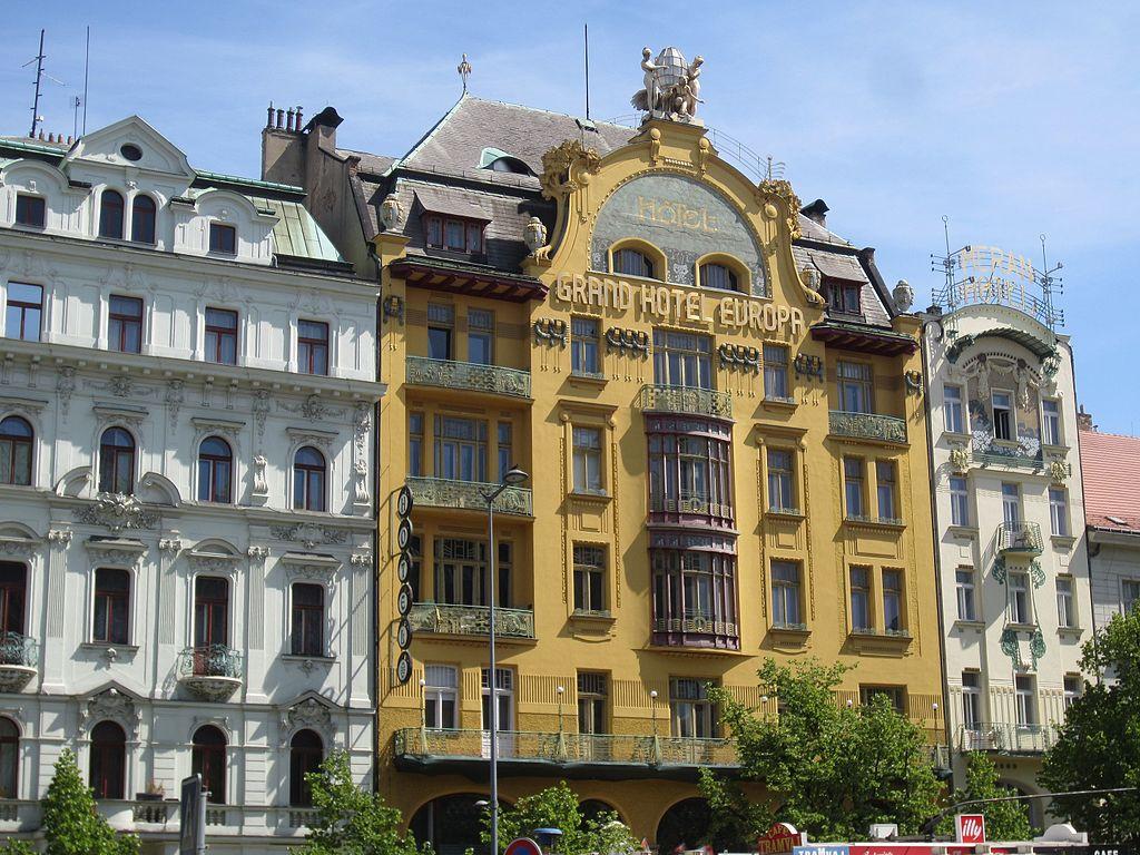 Hotel Europa Art Nouveau sur la place Venceslas dans le quartier de Nove Mesto à Prague - Photo d'Another Believer