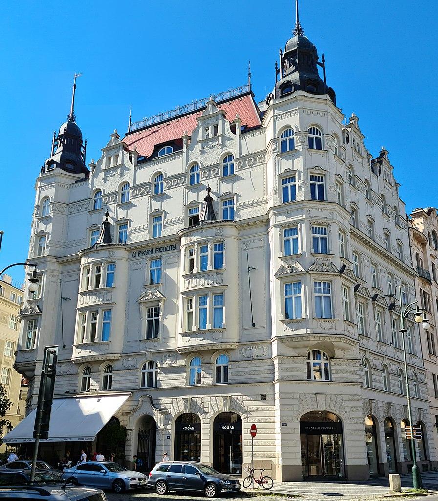 Immeuble de la rue Paryska sur l'ancien ghetto juif de Josefov à Prague - Photo de Ricardalovesmonuments