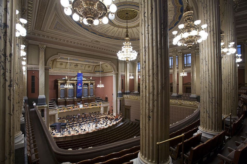 Salle de concerts de musique classique au Rudolfinum dans le centre historique de Prague - Photo de Jorge Royan