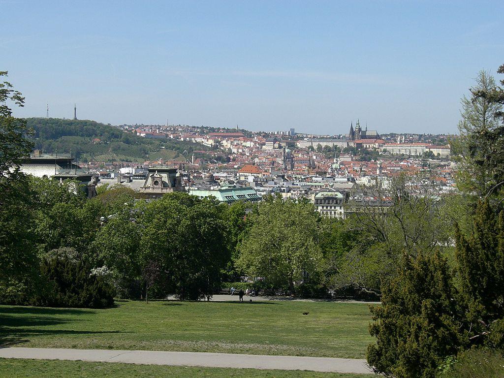Parc de Riegrovy Sady dans le quartier de Vinohrady à Prague - Photo de Chmee2