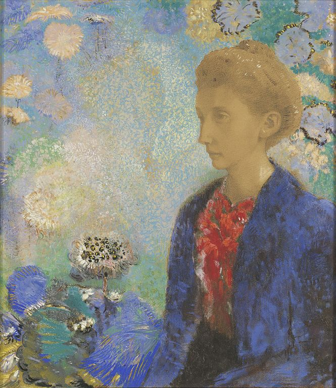 "Toile d'Odilon Redon ""Baronne de Domecy"" (1900) au Getty Center, musée d'art de Los Angeles."