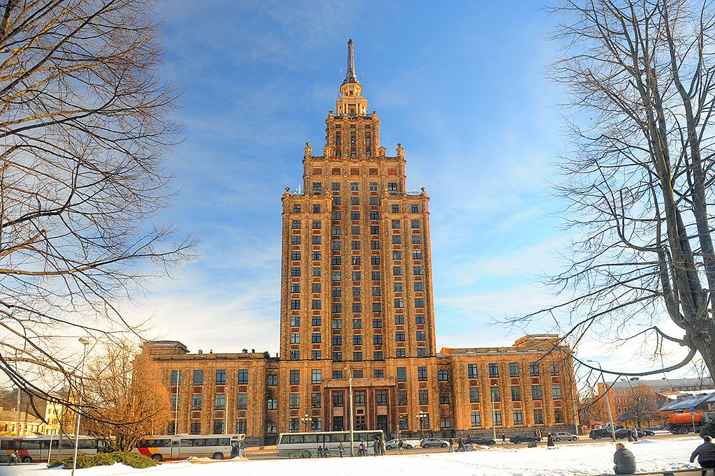 Académie des sciences, cadeau de Staline dans le quartier de Maskavas Forstate à Riga - Photo de Валерий-Дед