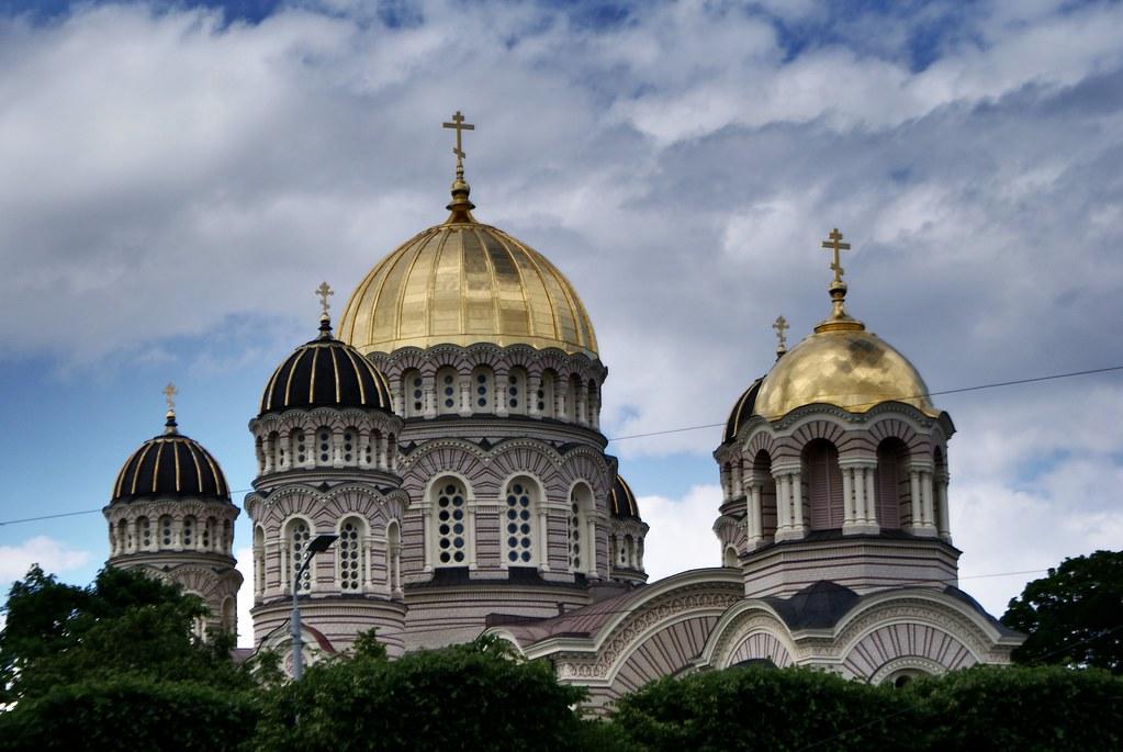 Monument : Cathédrale orthodoxe de la nativité à Riga.