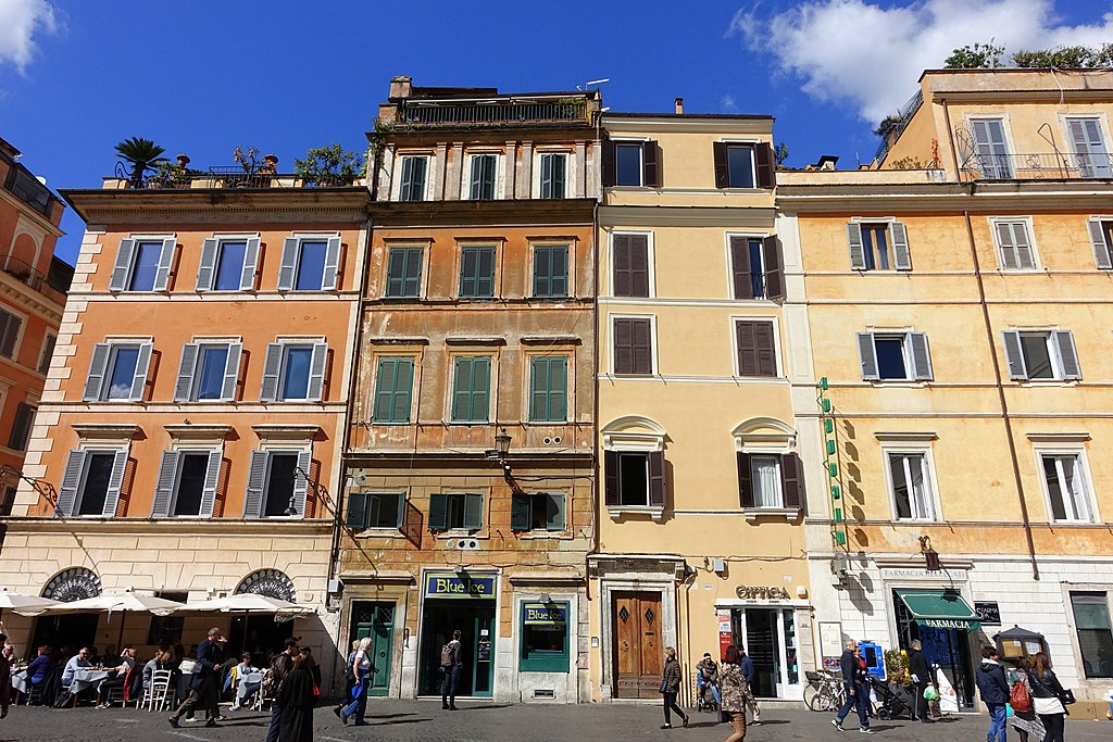 Place du quartier du Trastevere à Rome - Photo de Daderot