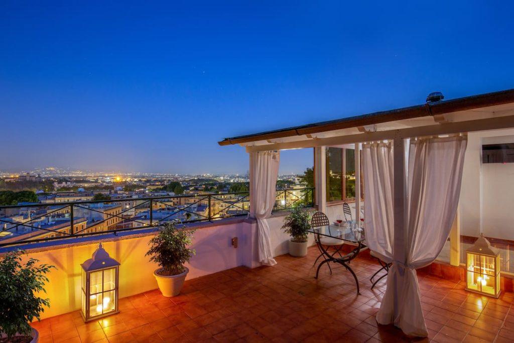 Airbnb à Rome : Superbe vue sur Rome.
