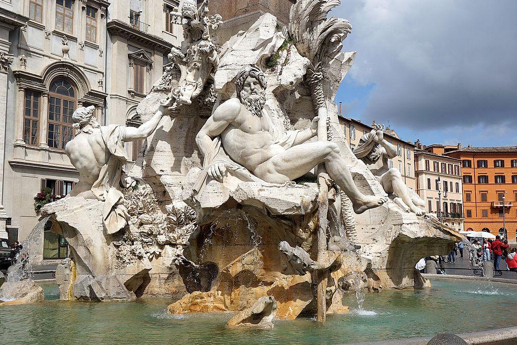 Fontaine des Quatres Fleuves sur la Piazza Navona dans le centre historique de Rome - Photo de Mariordo Mario Roberto Durán Ortiz