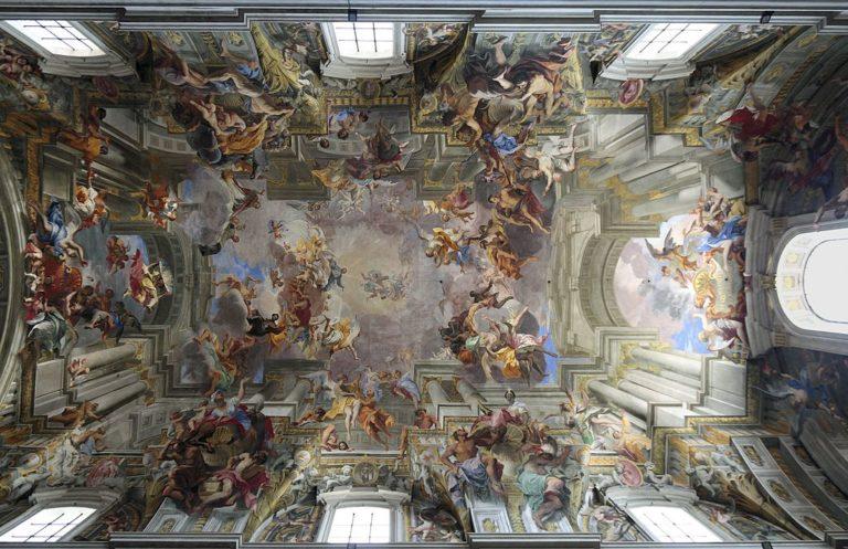 Plafond de l'église Saint Ignace dans le Vieux Rome - Photo de Myriam Thyes