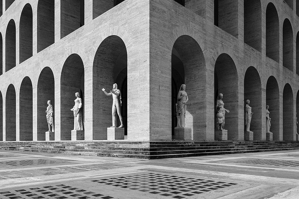 Palazzo della civiltà del lavoro, Palais de la civilisation italienne ou Colisée carré dans le quartier de l'EUR à Rome - Photo de Розанов-Михаил
