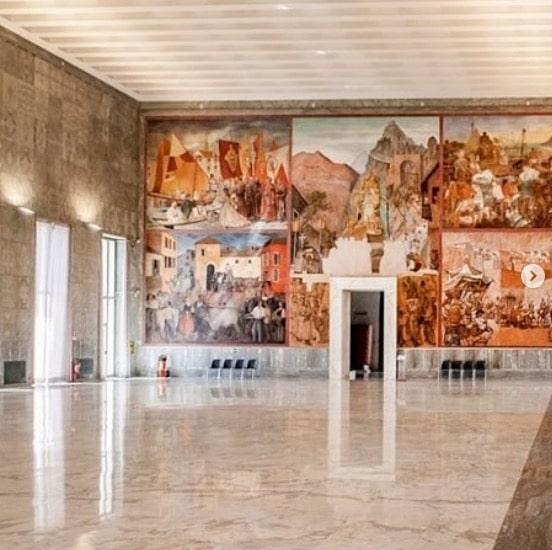 Musée de la Civilisation dans le quartier EUR à Rome.