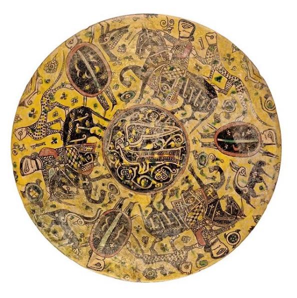 Objet en céramique perse du 10e siècle dans le Musée de la Civilisation dans le quartier EUR à Rome.
