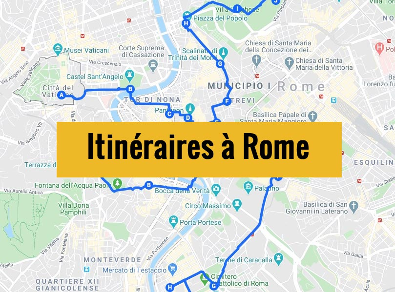 Itinéraires détaillés pour visiter Rome (Italie) en 2, 3 jours ou plus.
