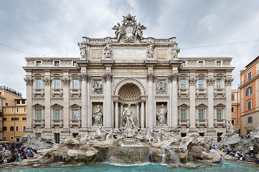 Fontaine de Trévi à Rome : Neptune dans son élément