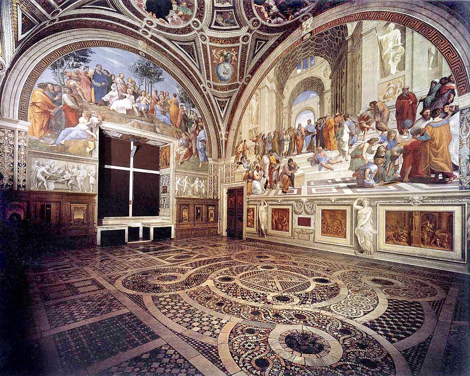 Chambre de Raphael aux musées du Vatican à Rome : Stanza della Segnatura.