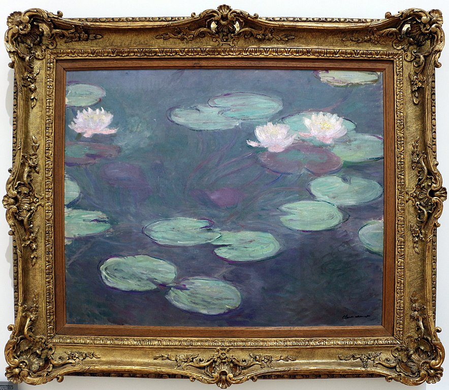"""""""Les nymphéas roses"""" (1899) de Claude Monet dans le Musée d'art moderne de Rome."""
