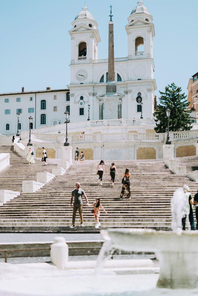 Piazza di Spagna à Rome, l'une des plus romantique. Photo de Maria Laura Gionfriddo
