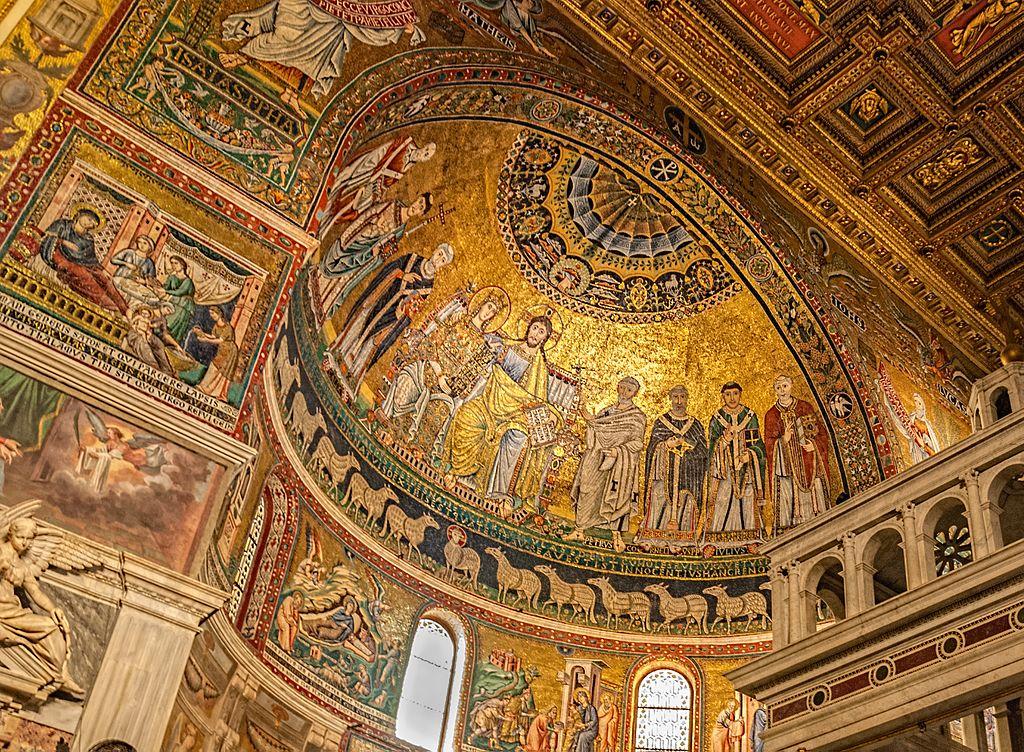 Mosaique de la basilique Sainte Marie du Trastevere - Photo de Gary Ullah