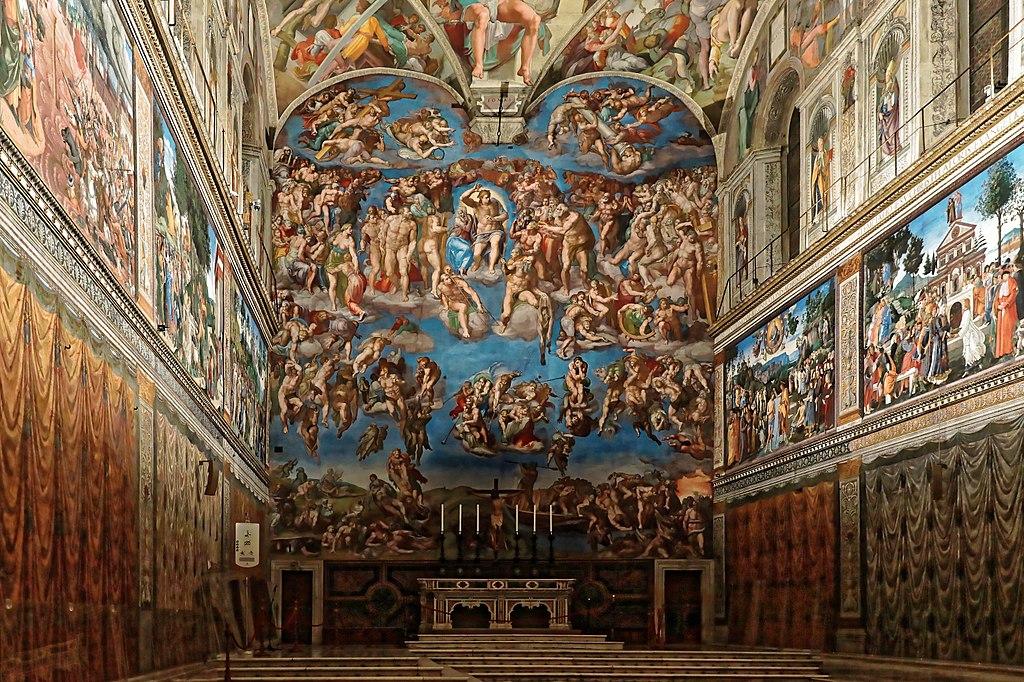 Vue générale de la Chapelle Sixtine au Vatican à Rome. Photo de Nicholas Hartmann