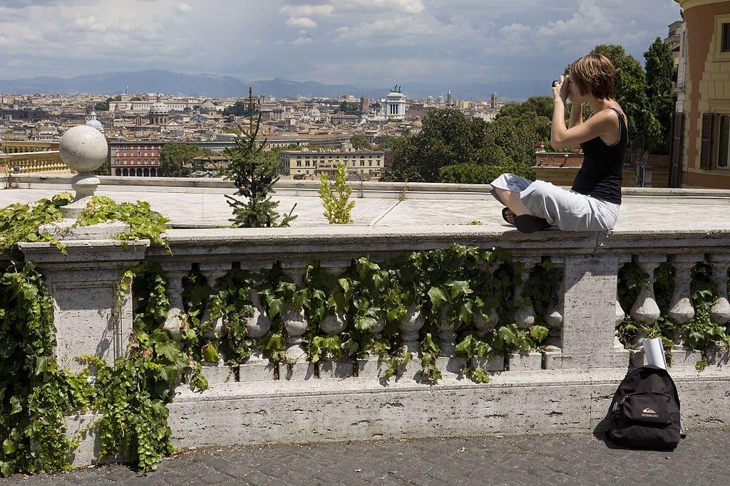 Vue sur Rome depuis la colline de Janicule - Photo de Jorge Royan