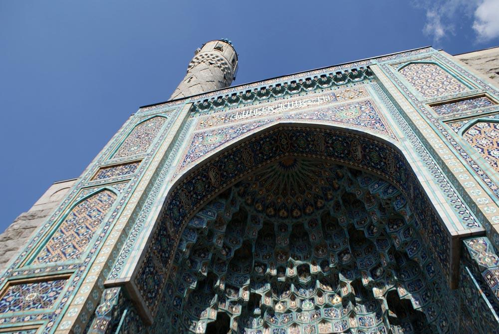 Impressionnante façade de la Grande mosquée de Saint Petersbourg
