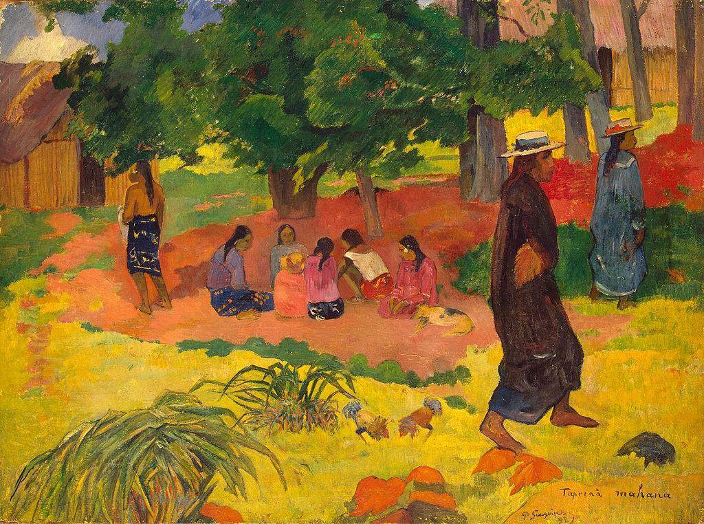 """Tapera Mahana"", tableau de Gauguin au Musée de l'Ermitage à Saint Petersbourg"
