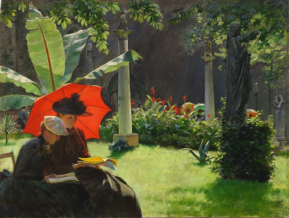 """Afternoon in the Cluny Garden, Paris"" de Charles Courtney Curran (1889) au Young Museum de San Francisco."