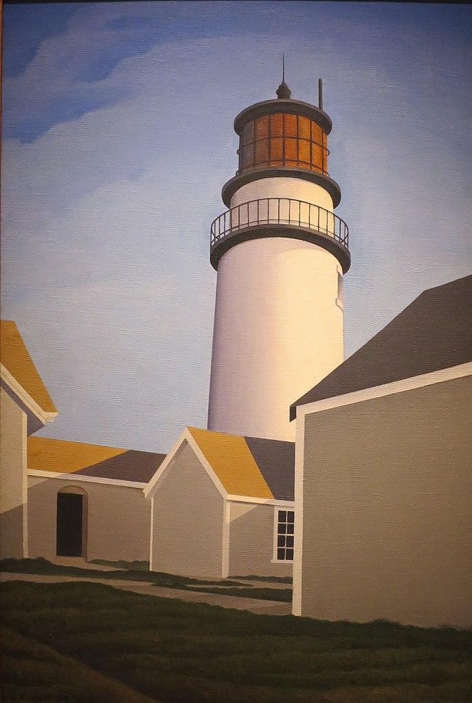 """Highland Light"" de George Copeland Ault(1929) au Young Museum de San Francisco."