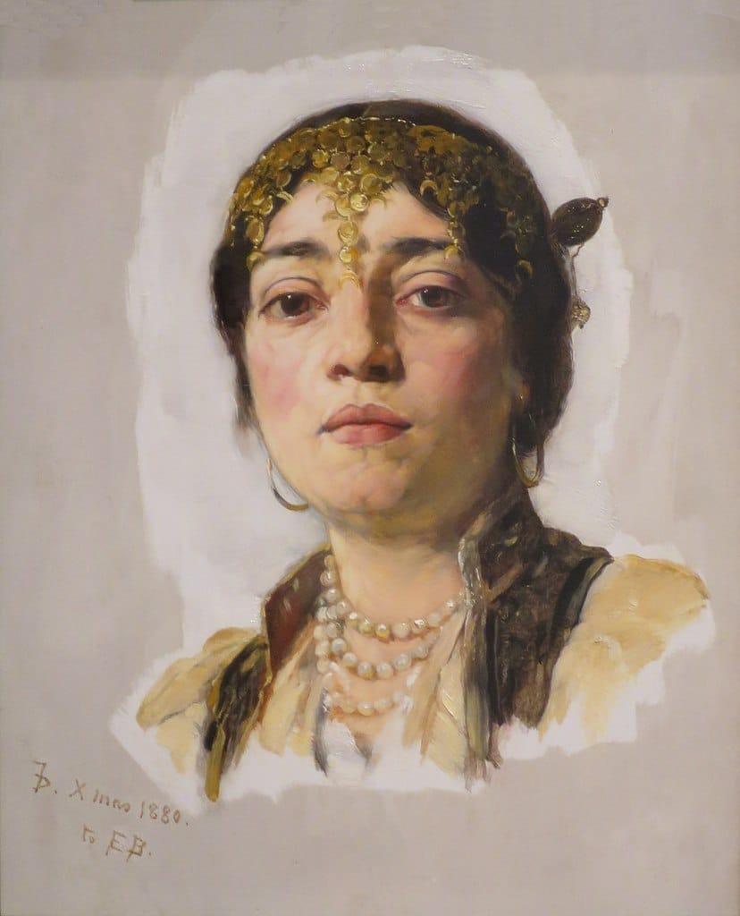 """Venetian Girl"" de Frank Duveneck (1880) au Young Museum de San Francisco."