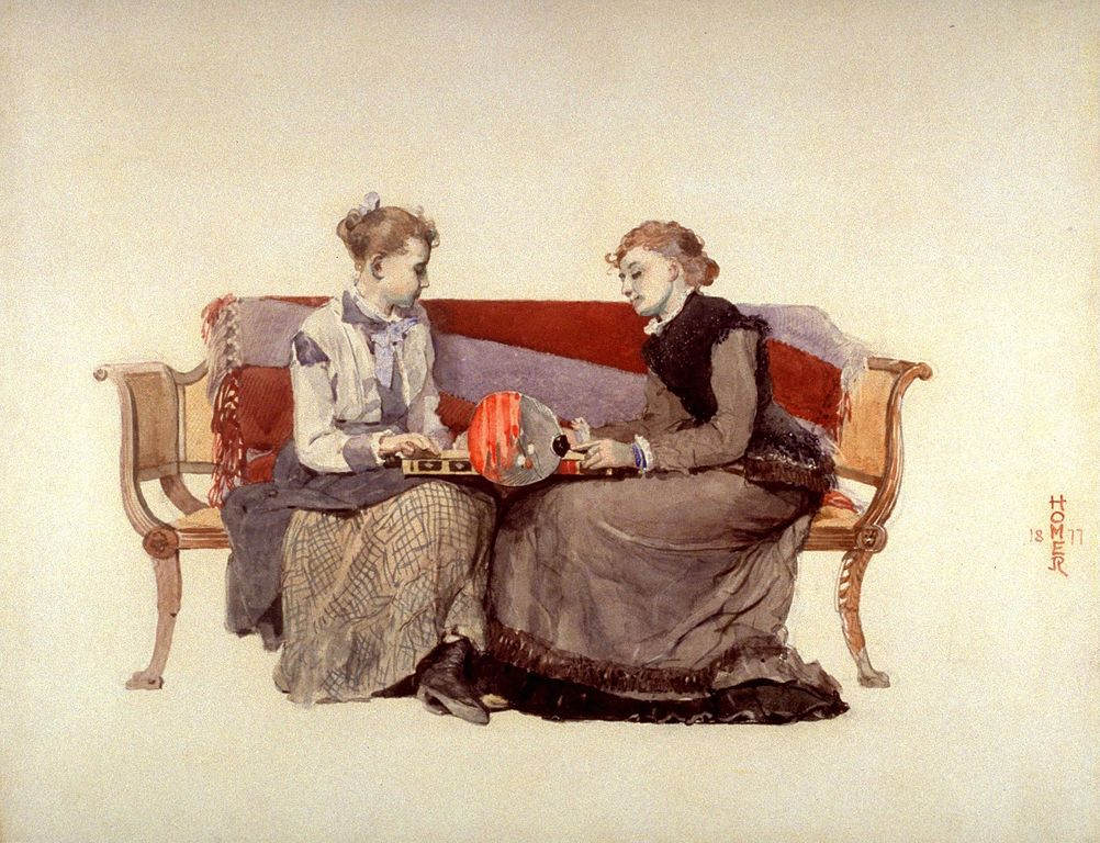 """Backgammon"" de Winslow Homer (1877) au Young Museum de San Francisco."
