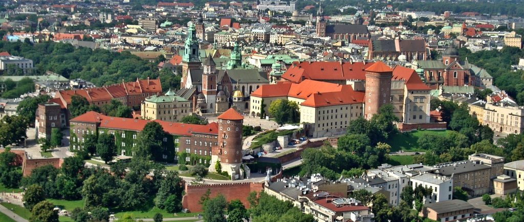 Vue sur le chateau royal de Wawel à Cracovie.