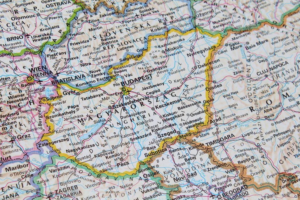 Venir à Budapest ! Carte de Budapest en Europe.