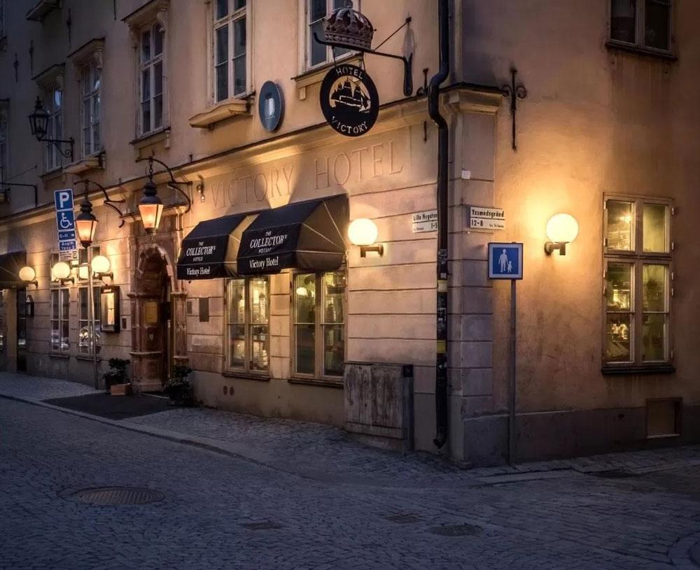 Dans l'hotel de luxe Victory apartments à Stockholm.