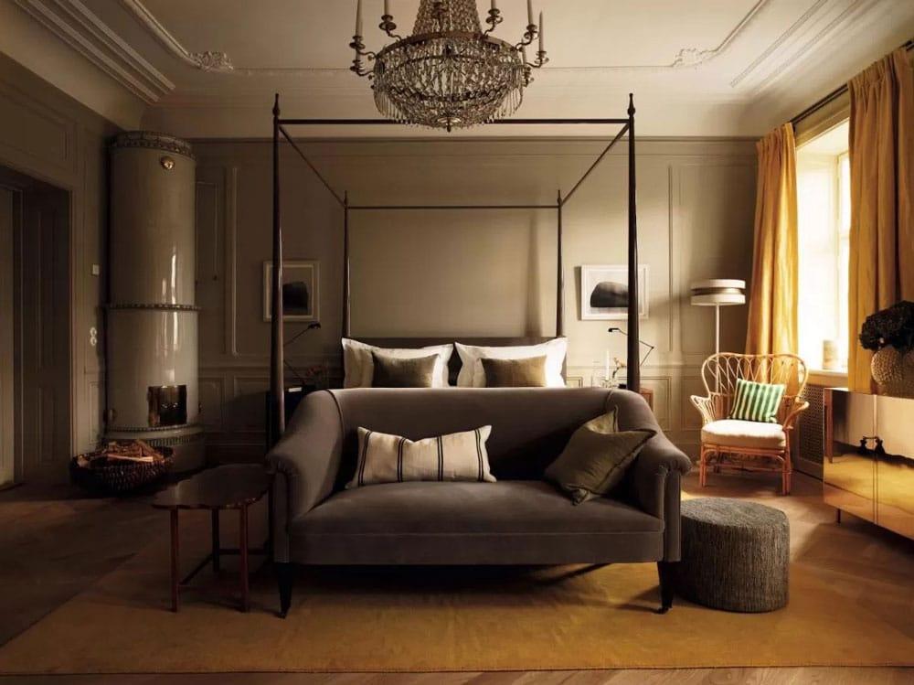Dans l'hotel de luxe Ett Hem à Stockholm.