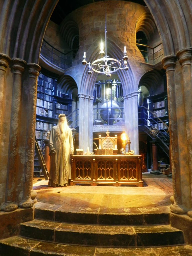 Bureau de Dumbledore au Studio Harry Potter près de Londres