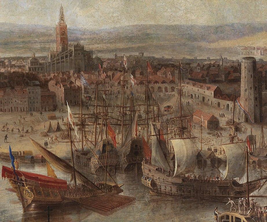 Torre del Oro sur le port de Séville en 1660.