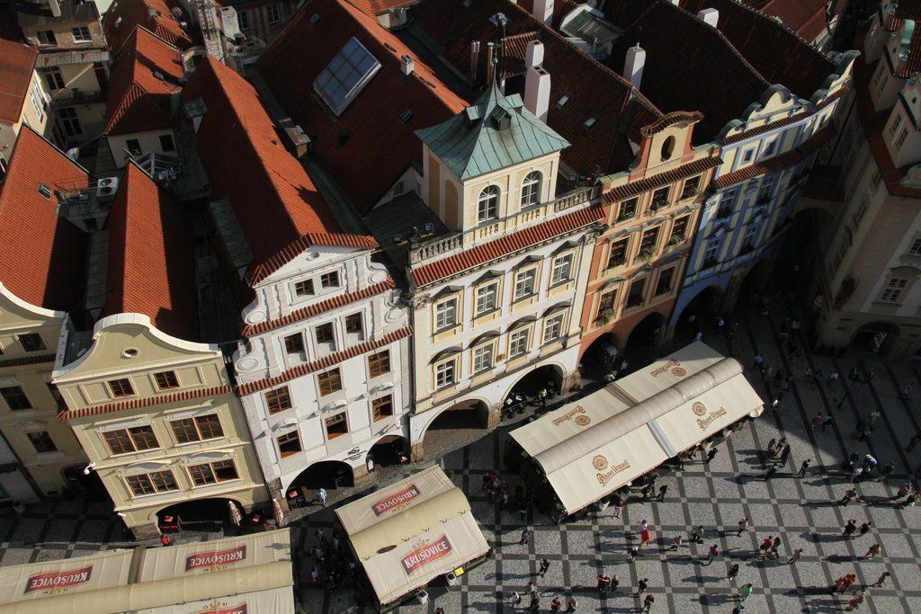 Hébergement dans les maisons colorées dans la Vieille Ville de Prague.